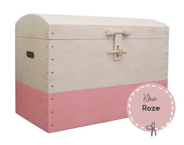 ZoHebbes Speelgoedkist met naam roze